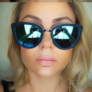 Quay My Girl Blue Sunglasses